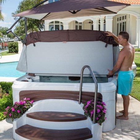 Cabana 2500 in White Diamond with Espresso Panels